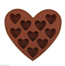 Heart Shape Silicone Cookie Chocolate Jelly Fondant Cake Decorating Mold Mould J