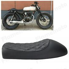 Black Cafe Racer Vintage Saddle Hump Custom Seat For Honda CL350 CL450 CB400F