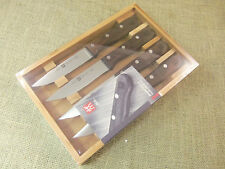 Zwilling JA Henckels 4 Piece Steakhouse Knife Set with Bamboo Gift Box - NIB