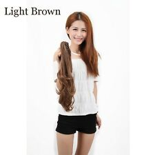 """18""""-22"""" Claw Pony tail Ponytail Clip In On Hair Extension Wavy Curly Style re66"""