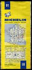 carte MICHELIN  no 91  CLERMONT FD- LYON  CHAMBERY   1983-1984  10 éditions