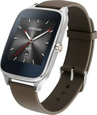 Asus Zenwatch 2 WI501Q Smartwatch for Android - Silver / Brown Band