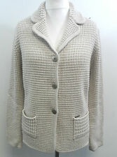 Julia Garnett Merino Wool Mix Cardigan Beige /Latte Size ITA  44 UK 12 BOX7315 A