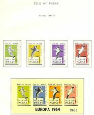 ENGLAND LOCAL STAMPS ISLE OF PABAY   4 ST. +  BL.  1964  EUROPA  **  MNH  @!