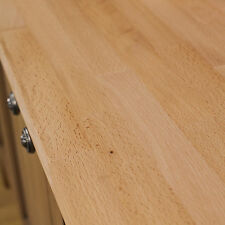 Beech Wooden Kitchen Worktops 2000mm X 620mm X 40mm, 30-40mm staves, Solid Wood