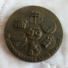 SPAIN 1975 50th ANNIVERSARY OF TELEFONICA 40mm MEDAL