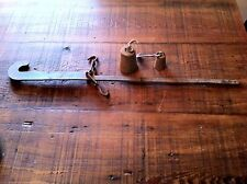 Antique Rustic Collectiable Cotton Scale ,2 Weights