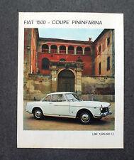 G975 - Advertising Pubblicità - 1963 - PININFARINA FIAT 1500 COUPE'