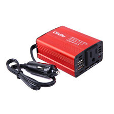 150W Power Inverter DC 12V to 110V AC Car Adapter with 3.1A Dual USB Charger
