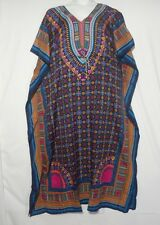 Women Long Dashiki  African Caftan Dress Hippie Boho House Outfit Gown One size