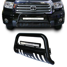 Black Bull Bar Brush Bumper Grille Guard +126W Led Light for Toyota Tundra 07-13