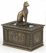 Bastet Jewelry Trinket Box Statue Egyptian Goddess Cat Bast Sculpture Figurine