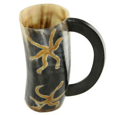 All Natural Viking Earth Essence Drinking Dining Hall Bovine Horn Beer Mug