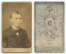 CDV STUDIO PORTRAIT YOUNG MAN FROM LANCASTER, PA, BY CUMMINGS