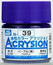 MR HOBBY GUNZE AQUEOUS ACRYSION ACRYLIC N39 Purple MODEL KIT PAINT 10ml