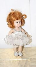 Vintage Vogue Ginny Doll Dressed White Ballerina Silver Shoes Tagged Red Hair