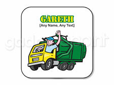REGALO personalizzato GARBAGE TRUCK Coaster binman raccolta delle immondizie lavoro attuale