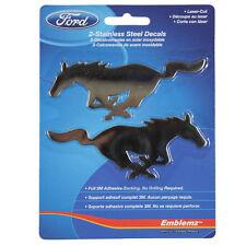 Original Ford Mustang Pony logotipo de acero inoxidable emblemas Pegatina Sticker decal nuevo