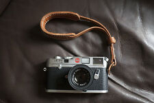 Handmade Real Leather wrist camera strap for film camera EVIL camera Light Brown