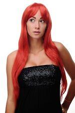 Peluca Roja Rojo fuego largo Raya sexy Wig aprox. 70cm 3111-137