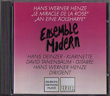 Hans Werner HENZE Le Miracle de la Rose & An eine Äolsharfe CD Ensemble Modern