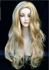 AUCJF46 new fashion  long curly blonde mix Wig hair wigs for modern women