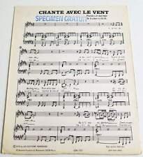 Partition vintage sheet music ESTHER GALIL : Chante Avec le Vent * 70's Promo