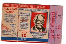 1956 All-Star Ticket HR Ted Williams/Mickey Mantle/Willie Mays/Stan Musial