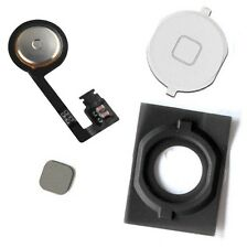 iPhone 4S New White Home Menu Button + Flex Cable + Spacer -Full pack - Key Part