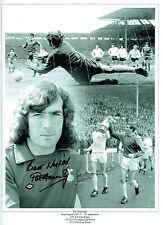Pat Jennings firmato Autograph Spurs Tottenham Montage 16x12 FOTO AFTAL COA