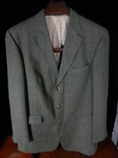 Men's Irvine Park Olive Green 3 Button Blazer/Jacket Size 44 L; Made in India