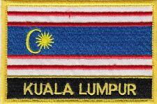 Kuala Lumpur City Malaysia Flag Embroidered Patch Badge - Sew or Iron on