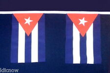 Cuba Flag Bunting 9metres 30ft Long with 30 Cloth fabric Flags