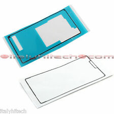 SET ADESIVI PER SONY XPERIA Z3 D6603 D6633 PER LCD TOUCH SCREEN E BACK COVER