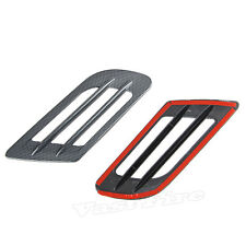 Car Fake Carbon Fiber Style Decorative Air Vent Hood Scoop Sticker Covers Pair