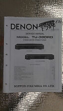 Denon tu-380rd service manual original repair book stereo radio tuner 2 band