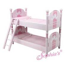 """Pink Handpainted Bunk Bed and Bedding Furniture for 18"""" American Girl Dolls"""