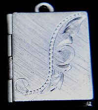 """New Sterling Silver book locket necklace on 18"""" chain"""