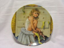 VTG EDWIN KNOWLES BECKY'S DAY COLLECTION SECOND ISSUE GETTING DRESSED PLATE MIB