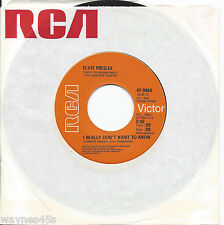 ELVIS PRESLEY * 45 * I Really Don't Want To Know * 1970 #21 *  MINT UNPLAYED *