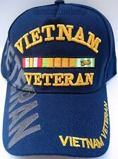 VIETNAM VETERAN Cap/Hat w/Shadow Blue Military New Free Shipping