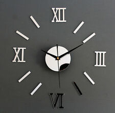 New Modern Style Wall Clock DIY 3D Luxury Mirror Home Decor Creative Decoration