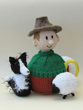 One Man And His Dog, Sheep Farmer Tea Cosy Knitting Pattern - Knit your Own!