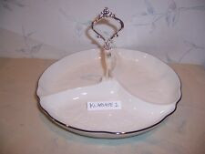 NEW Noritake HALLS OF IVY PLATINUM 3 Part Relish Tray (divided dish) NEW IN BOX