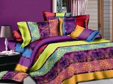 3D  Rainbow Style Home Duvet Cover Quilt Cover Pillowcase Bed Set Queen Size L