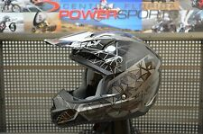 2017 Fly Racing KINETIC CRUX  MX Motocross Helmet Black / Grey Size Medium