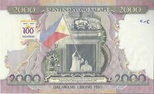 COMMEMO PHILIPPINES : 2000 piso grand format Centenaire de la République +livret