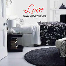 Love Now & Forever Bedroom Wall Sticker Wall Art Vinyl Wall Home Decor Letters