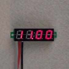 """0.28"""" 4V-30V DC 4 Digital LED Voltmeter Panel 5V 9V 12V  24V CAR Battery red"""