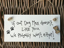 Personalised Dog Plaque gifts for dog lovers Sign Pug Sausage Boxer Scottie pet